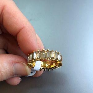Gemstone Eternity Ring  size 6
